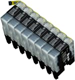8 Pack Compatible Brother LC1240 , LC1280 8 Black for use with Brother DCP-J525W, DCP-J725DW, DCP-J925DW, MFC-J430W, MFC-J5910DW, MFC-J625DW, MFC-J6510DW, MFC-J6710DW, MFC-J6910DW, MFC-J825DW. Ink Cartridges for inkjet printers. LC-1240BK © Cartridge Net