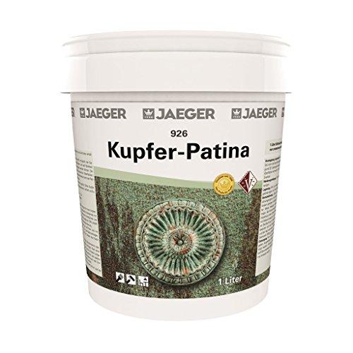 Jaeger Kupfer-Patina mit Grünspan Farbe mit Grünspaneffekt (1,0 L Grundfarbe + 1 x 500 ml Aktivator)