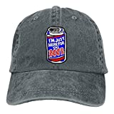 SWOOUI Here for The Beer Denim Baseball Caps Hat Adjustable Cotton Sport Strap Cap for Men Women