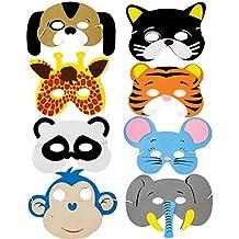 ruiistu Pack de 8surtidos Espuma EVA máscaras de animales