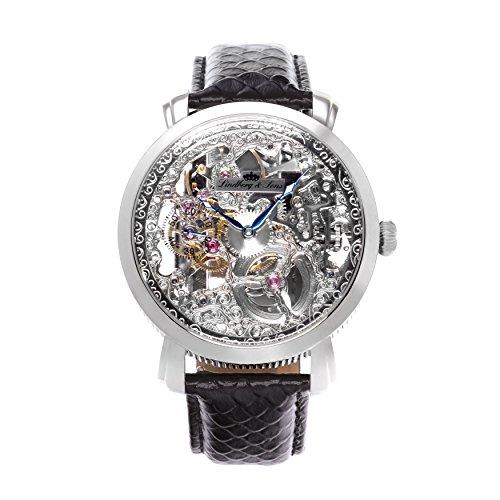 Lindberg&Sons - SK14H061 - Montre Homme - Automatique - Analogique - Bracelet cuir noir