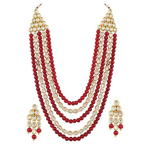Shining Diva Fashion Jewellery Kundan Necklace Set with Fancy Party Wear Earrings for Women & Girls