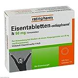 Eisentabletten Ratiopharm N 50 mg Tabletten, 100 St.