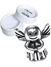 Charm Buddy Navidad Ángel y corazón colgante con caja de regalo para pulseras estilo Pandora