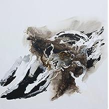 Angie Decoration Abstracto Cuadro, Acrílico, Negro, 80x80 cm