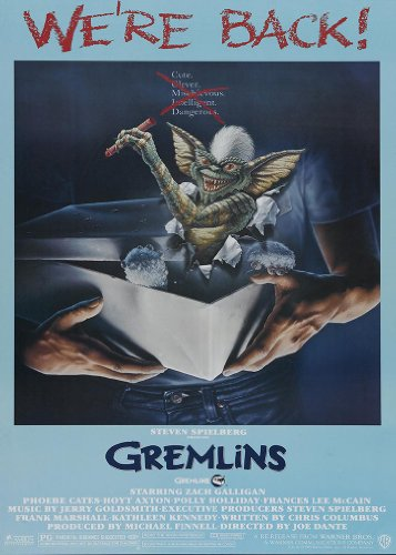 Gremlins Film Poster - A4 Size Movie Print
