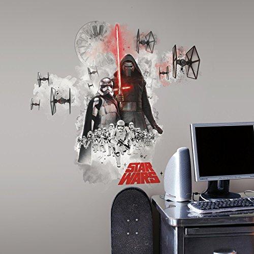 RoomMates RMK3080GM RM - Star Wars VII Erste Ordnung Wandtattoo, PVC, Bunt, 49 x 13 x 2.5 cm