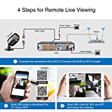 SANNCE 8CH 1080N DVR CCTV Camera System Surveillance Kit w/ 4x HD Outdoor Day Night Vision Fixed Bullet Cameras No HDD Included, HDMI Output, Easy Mobile Access, Email & Push Notification, H.264 Realtime Streaming