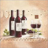 Keilrahmen-Bild - Claudia Ancilotti: Montepulciano Leinwandbild Wein Küche Esszimmer Stillleben modern (35x35)