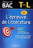 L'épreuve de littérature Tle L