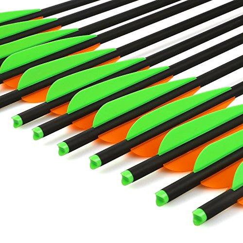 "VERY100 Carbonpfeile 22\"" Jagd - Training Bolzen Pfeile Recurve - Compound Armbrust (grün)"
