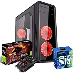 Pc desktop gaming completo intel i5 ,Scheda video Gtx1050ti 4gb Asus,Ram 8gb Ddr4,Hdd 1Tb,Ssd 120 Gb,Windows 10 Pro,Pc assemblato Pc Fisso Computer da Gaming completo Desktop