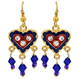 Maayra Classic Blue Red Meenakari Party Dangler Earrings best price on Amazon @ Rs. 600