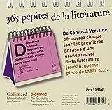 Image de Calendrier - 365 pépites de la littérature avec Gallimard