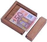 Money - Der Geldschein-Tresor - für Geldgeschenke in schöner Verpackung - Trickkiste - Denkspiel - Knobelspiel - Geduldspiel - Logikspiel aus Holz
