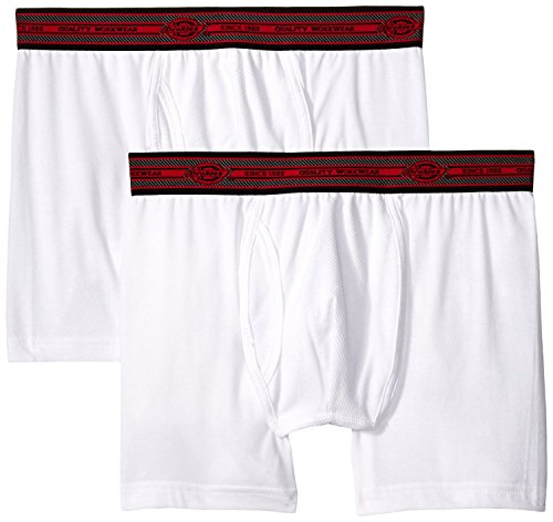 Dickies Men's 2 Pack Cotton Performance White Short Leg Boxer Brief (XX-Large) (Shorts Spandex Dickies)