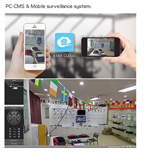 A-ZONE Kit Videosorveglianza 4 Canali Wireless 960P NVR 4x IP 720P Telecamere di Sorveglianza Senza Fili da Esterno con Disco Rigido da 2 TB