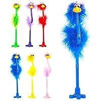 6 Feathery Fluffy Emu Novelty Flowery Sun Hat Bird Pens