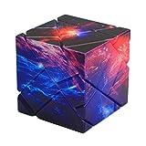 WXXW Fantasma Speed Cubo, 3 x 3 Magic Puzzle Stickerless Velocidad Mágica Suave Fácil De Girar para El Juego De Entrenamiento Mental, Starsky