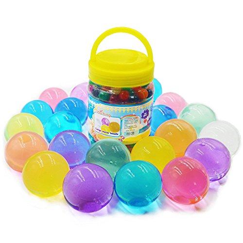 Große Wasserperlen 260g (40,000pcs) Riesige Jelly Wasser Perlen Regenbogenfarbige Mischung für Hochzeit und Wohndekoration, Pflanzen Vase Füller