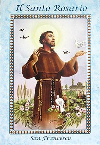 Libretto Rosenkranz mit Bild San Francesco und Papst Franziskus mit Rosenkranz–Italienisch (Bilder Papst Franziskus)