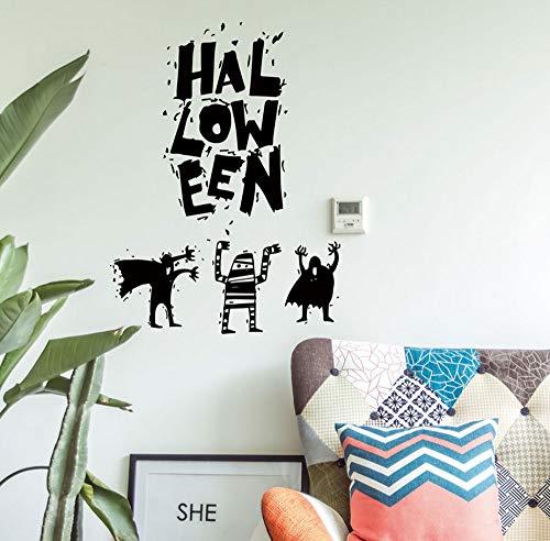 Sgbfz Halloween -Hexe Hintergrund Dekoriert Wohnzimmer Schlafzimmer -Wand -AufkleberTapete