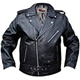 German Wear Lederjacke Motorradjacke Rockabilly