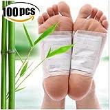 Bambus Fußpflaster-Detox Fußpflaster zur nächtlichen Anwendung Bambus Pflaster Wellness Detox-Pflaster zieht die Toxine Spa(100 Stück)