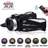 Videokamera Camcorder Full HD 1080P 30FPS Nachtsicht Videokamera Digitalkamera für YouTube 24.0MP Vlogging Kamera mit Fernbedienung