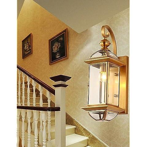PW_ Camera da letto//Yuan Tian//corridoio lampada da parete// appliques mini-style / pera compresi tradizionale/metallo classic ,
