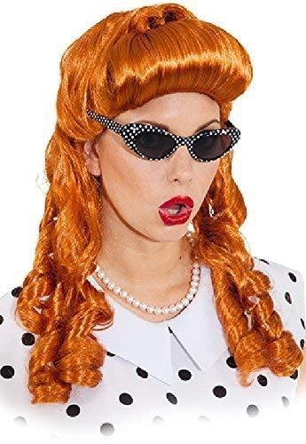 Jahre 1940er Kostüm Frauen - Fancy Me Frauen 1940er Jahre 40er Jahre Vintage Auburn rot lang Sexy Hollywood Siren Star Film Baril CURL Kostüm Perücke