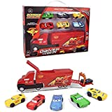 TMG Set of 7 Pixar Cars 3 Lightning McQueen Jackson Storm Mack Uncle Truck 1:55 Alloy Toy Truck Cars Best Toy Gift for…