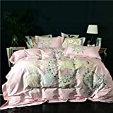 yyygg Ägypten Baumwolle Art Garden Bettwäsche Set Digital Printed Bettbezug Set Bettlaken Kissenbezüge