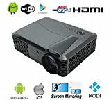 WiFi Video beamer Full HD 1080p Native beamer 4500 Lumen 7000:1 Heimkino beamer Android TV beamer HDMI LCD beamer LED Projektor Heimkino 1080P HD Video Projektor 3D beamer