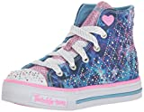 Skechers Twinkle Toes Shuffles Studded Steps Girls High Top Light Up Sneakers