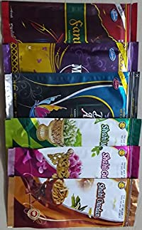 Combo of Six Diffrenet Fragnanaces Pouches, Three Boxes Contain 130 GMS Each and Other Three Contain 80 GMS Each