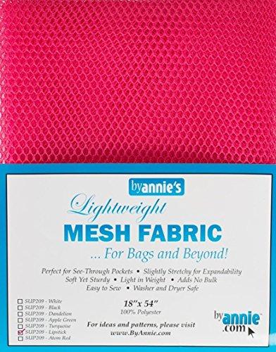 By Annie - Tejillo de Malla Ligera SUP209-LIPST, Aprox. 45,7x 137cm, Malla de plástico, 100% poliéster, Color Rosa, 28x 20x 1cm