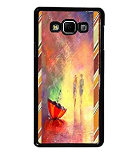 PrintDhaba painted Umbrella D-2689 Back Case Cover for SAMSUNG GALAXY E7 (Multi-Coloured)