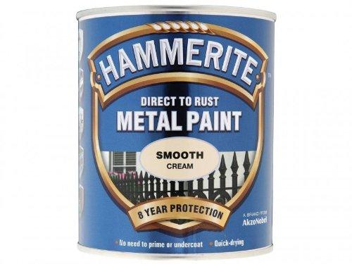 HAMMERITE Direct To Rust Smooth Finish 750ml Cream