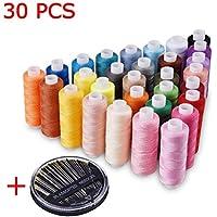 Candora® all' ingrosso per cucire bobina 30colori 228,6m ogni poliestere multiuso, 30 pz