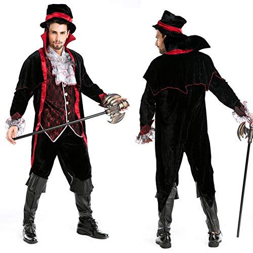 Deluxe Witwe Schwarze Kostüm - JH&MM Halloween Kostüm Mann Deluxe Devil Adult Rollenspiel Maskerade Kostüm