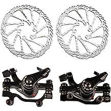 MyArmor freno de disco mecánico para bicicleta de montaña (f-160mm/r-140mm & f-180mm/r-160mm) + G3rotores de 160mm