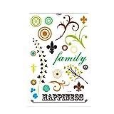 Tatuaggi adesivi per tessuti, legno, vetro, porcellana e molto altro ancora, Family