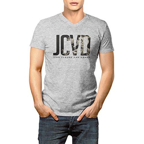 Jean Claude Van Damme Initials JCVD 2017 Homme V-neck T-shirt L