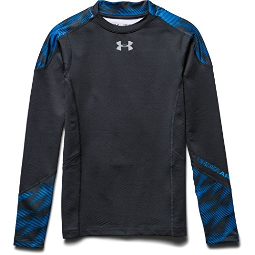 Under Armour CG Infrared Multiplier Mock Couche de protection Garçon Anthracite/Reflective/Electric Blue