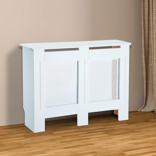HOMCOM-Wooden-Radiator-Cover-Heating-Cabinet-Modern-Home-Furniture-Grill-Style-Diamond-Design-White-Painted-Medium