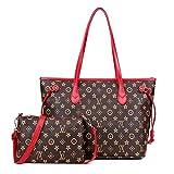 Ldyia Bag Frauen Druck umhängetasche alte Blume 2 stück Set alte Blume weibliche Tasche Druck Einkaufstasche