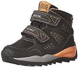 Geox Jungen J Orizont Boy ABX A Schneestiefel, Schwarz (Black/Orange), 39 EU