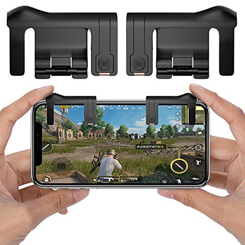 ddellk téléphone Gamepad Déclencheur Bouton Feu Aim principales L1r1 Shooter contrôleur Pubg v6.0 Fut1 V2.0 Noir