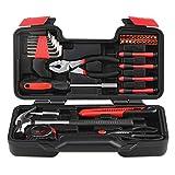 Werkzeugsatz, Universale Werkzeugkoffer, Hand Carry Tool Box 40-Piece Household Tool Kits DIY Haushalt Repairkit mit Kombizange für DIY-Projekte und tägliche Reparatur
